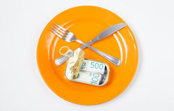 Το γεύμα εξυπηρετείται Στοκ Εικόνα