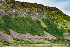 Το γιγαντιαίο υπερυψωμένο μονοπάτι ` s στη κομητεία Antrim, Βόρεια Ιρλανδία Στοκ φωτογραφίες με δικαίωμα ελεύθερης χρήσης