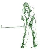 το γκολφ θέτει την ταλάντ&eps Στοκ φωτογραφία με δικαίωμα ελεύθερης χρήσης