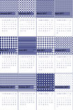 Το γκρίζο και τυχερό σημείο Waikawa χρωμάτισε το γεωμετρικό ημερολόγιο το 2016 σχεδίων Στοκ Εικόνες