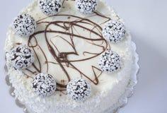 το γκρι κέικ ανασκόπησης απομόνωσε το λευκό Στοκ Εικόνα