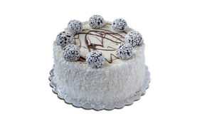 το γκρι κέικ ανασκόπησης απομόνωσε το λευκό Στοκ Φωτογραφίες