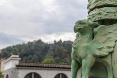 Το γλυπτό στο Λουμπλιάνα, Σλοβενία στοκ φωτογραφίες