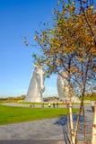 Το γλυπτό Kelpies από το Andy Scott, Falkirk, Σκωτία Στοκ εικόνα με δικαίωμα ελεύθερης χρήσης