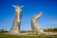 Το γλυπτό Kelpies από το Andy Scott, Falkirk, Σκωτία Στοκ Εικόνες