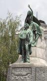 Το γλυπτό Preseren στο Λουμπλιάνα, Σλοβενία στοκ φωτογραφίες με δικαίωμα ελεύθερης χρήσης