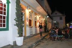 Το γοητευτικό εστιατόριο σε μια ιστορική πόλη στοκ εικόνα με δικαίωμα ελεύθερης χρήσης