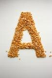 Το γράμμα Α Αγγλικό αλφάβητο από τα δημητριακά Στοκ εικόνες με δικαίωμα ελεύθερης χρήσης