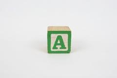 Το γράμμα Α στους ζωηρόχρωμους ξύλινους φραγμούς Children's Στοκ φωτογραφίες με δικαίωμα ελεύθερης χρήσης