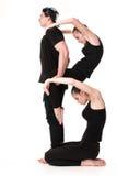 Το γράμμα Β που διαμορφώνεται από Gymnast τους οργανισμούς Στοκ Εικόνες
