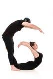 Το γράμμα Γ που διαμορφώνεται από Gymnast τους οργανισμούς Στοκ φωτογραφία με δικαίωμα ελεύθερης χρήσης