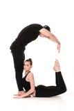 Το γράμμα Γ που διαμορφώνεται από Gymnast τους οργανισμούς Στοκ εικόνες με δικαίωμα ελεύθερης χρήσης