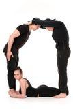 Το γράμμα Ο που διαμορφώνεται από Gymnast τους οργανισμούς Στοκ φωτογραφίες με δικαίωμα ελεύθερης χρήσης
