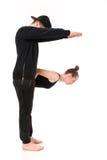 Το γράμμα Φ που διαμορφώνεται από Gymnast τους οργανισμούς Στοκ Εικόνες