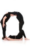 Το γράμμα Q που διαμορφώνεται από Gymnast τους οργανισμούς Στοκ Φωτογραφίες