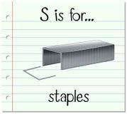Το γράμμα S Flashcard είναι για τις βάσεις απεικόνιση αποθεμάτων