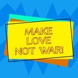 Το γράψιμο κειμένων γραφής κάνει τον πόλεμο αγάπης όχι Η έννοια έννοιας δεν παλεύει ο ένας εναντίον του άλλου έχει την ειρήνη και απεικόνιση αποθεμάτων