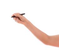 Το γράψιμο χεριών είναι απομονωμένο Στοκ εικόνα με δικαίωμα ελεύθερης χρήσης