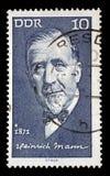 Το γραμματόσημο που τυπώνεται Heinrich στην ΟΔΓ παρουσιάζει Mann στοκ φωτογραφίες με δικαίωμα ελεύθερης χρήσης
