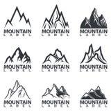 Το γραπτό βουνό οξύνει τα λογότυπα Στοκ φωτογραφίες με δικαίωμα ελεύθερης χρήσης
