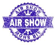 Το γρατσουνισμένο κατασκευασμένο AIR ΠΑΡΟΥΣΙΆΖΕΙ σφραγίδα γραμματοσήμων με την κορδέλλα απεικόνιση αποθεμάτων