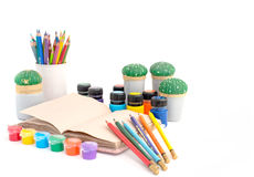 Το γραφείο για το σχολείο της δημιουργικότητας Στοκ εικόνα με δικαίωμα ελεύθερης χρήσης