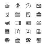 Το γραφείο παρέχει τα επίπεδα εικονίδια Στοκ φωτογραφίες με δικαίωμα ελεύθερης χρήσης