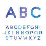 Το γραφικό αλφάβητο στις μπλε σκιές Στοκ φωτογραφίες με δικαίωμα ελεύθερης χρήσης