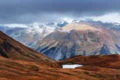 Το γραφικό τοπίο στα βουνά Ανώτερο Svaneti Στοκ εικόνες με δικαίωμα ελεύθερης χρήσης