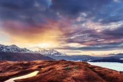 Το γραφικό τοπίο στα βουνά Ανώτερο Svaneti Στοκ Φωτογραφία