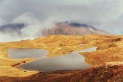 Το γραφικό τοπίο στα βουνά Ανώτερο Svaneti, Georg Στοκ εικόνες με δικαίωμα ελεύθερης χρήσης