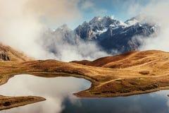 Το γραφικό τοπίο στα βουνά Ανώτερο Svaneti, Georg Στοκ Εικόνες