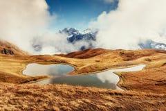 Το γραφικό τοπίο στα βουνά Ανώτερο Svaneti, Georg Στοκ Φωτογραφία