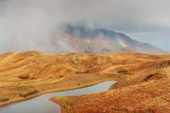 Το γραφικό τοπίο στα βουνά Ανώτερο Svaneti, Georg Στοκ Εικόνα