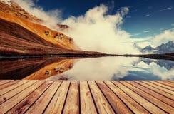 Το γραφικό τοπίο στα βουνά Ανώτερο Svaneti, Georg Στοκ φωτογραφία με δικαίωμα ελεύθερης χρήσης