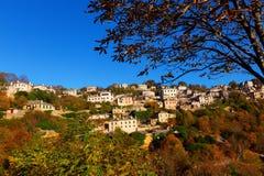 Το γραφικό χωριό Vitsa στην περιοχή Zagori, βόρεια Ελλάδα Στοκ Εικόνες