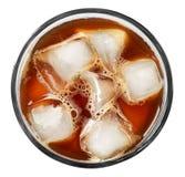 Το γυαλί με το κρύο παρασκευάζει τον καφέ στοκ εικόνα