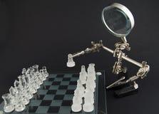 το γυαλί σκακιού άφησε το παιχνίδι s Στοκ Φωτογραφία
