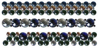 Το γυαλί διακοσμεί τα βραχιόλια με χάντρες Στοκ Φωτογραφίες