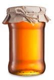 Το γυαλί μπορεί με το μέλι Στοκ Εικόνες