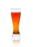 το γυαλί μπύρας απομόνωσε το λευκό στοκ εικόνα