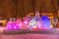 Το γλυπτό πάγου: Η νεράιδα TalesTerem «Pushkin» Στοκ φωτογραφία με δικαίωμα ελεύθερης χρήσης