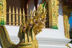 Το γλυπτό του χρυσού δράκου Luang Prabang Λάος Στοκ Φωτογραφίες