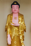 Το γλυπτό Guanyin με τον αγκυλωτό σταυρό στο ναό Si Kek Lok είναι ένας βουδιστικός ναός σε Penang Στοκ φωτογραφίες με δικαίωμα ελεύθερης χρήσης