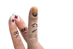 το δάχτυλο 2 εμφανίζει Στοκ Εικόνες