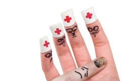 το δάχτυλο 5 εμφανίζει Στοκ Φωτογραφίες