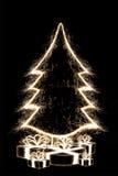 Το δέντρο Cristmas με παρουσιάζει Στοκ Εικόνες
