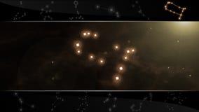 Το δίδυμο σημάδι Διδυμοι αστεριών Στοκ εικόνες με δικαίωμα ελεύθερης χρήσης