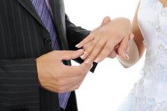 το δαχτυλίδι νεόνυμφων ν&upsilo Στοκ Εικόνα