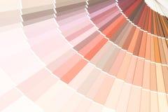 το δείγμα χρωματίζει το pantone καταλόγων στοκ εικόνα